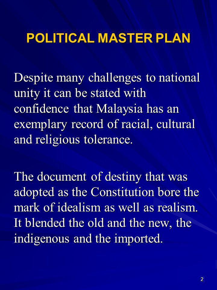 POLITICAL MASTER PLAN