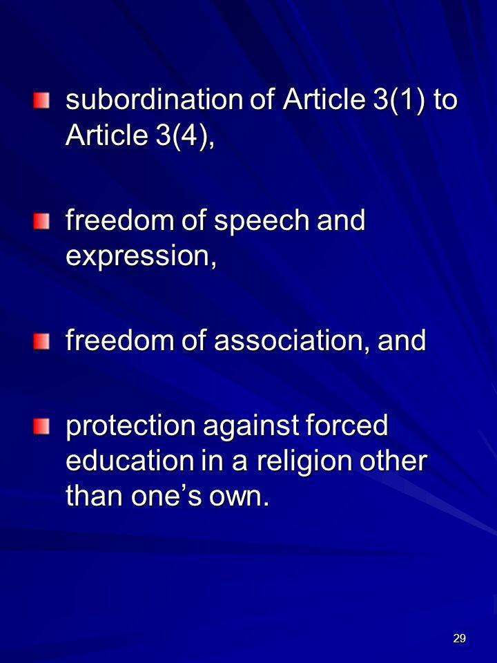 subordination of Article 3(1) to Article 3(4),