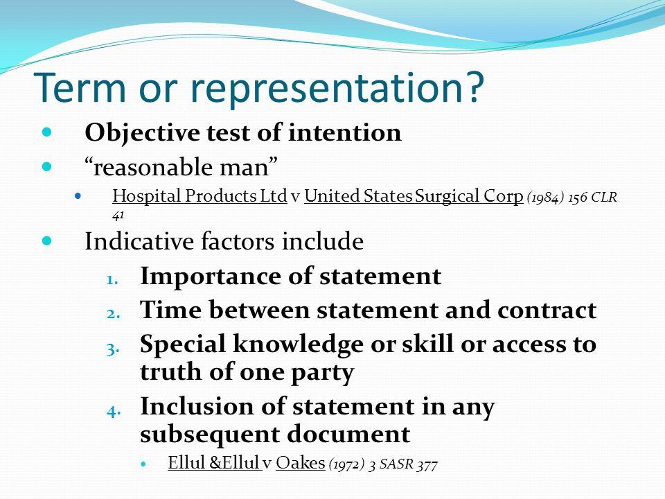 Term or representation