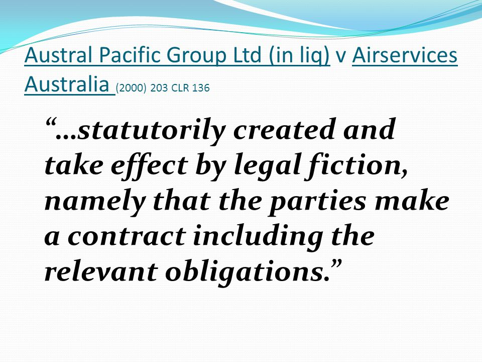 Austral Pacific Group Ltd (in liq) v Airservices Australia (2000) 203 CLR 136