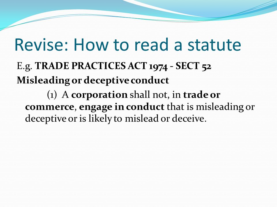 Revise: How to read a statute