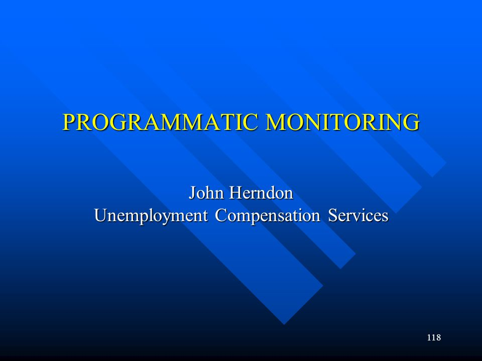 PROGRAMMATIC MONITORING