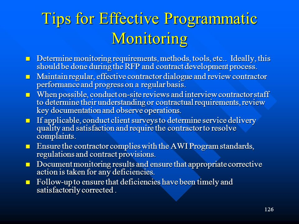 Tips for Effective Programmatic Monitoring