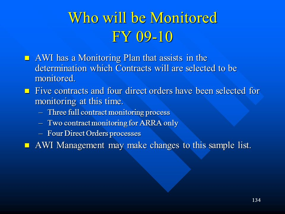 Who will be Monitored FY 09-10