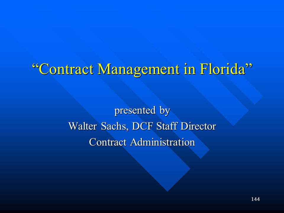Contract Management in Florida