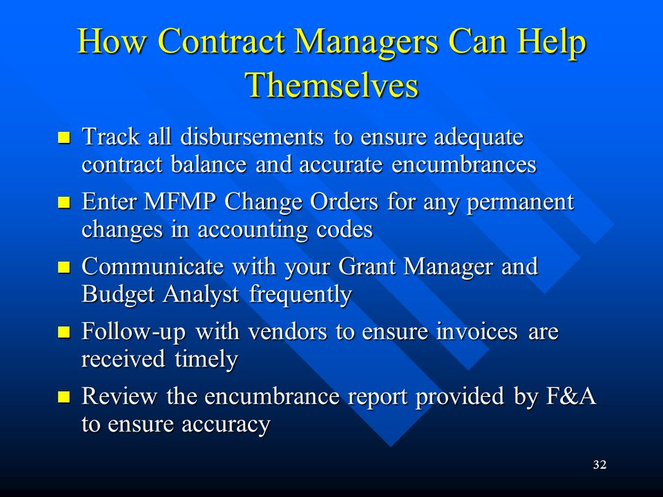 How Contract Managers Can Help Themselves