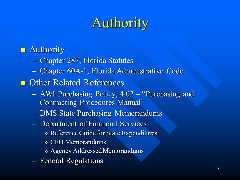 Authority Authority Other Related References