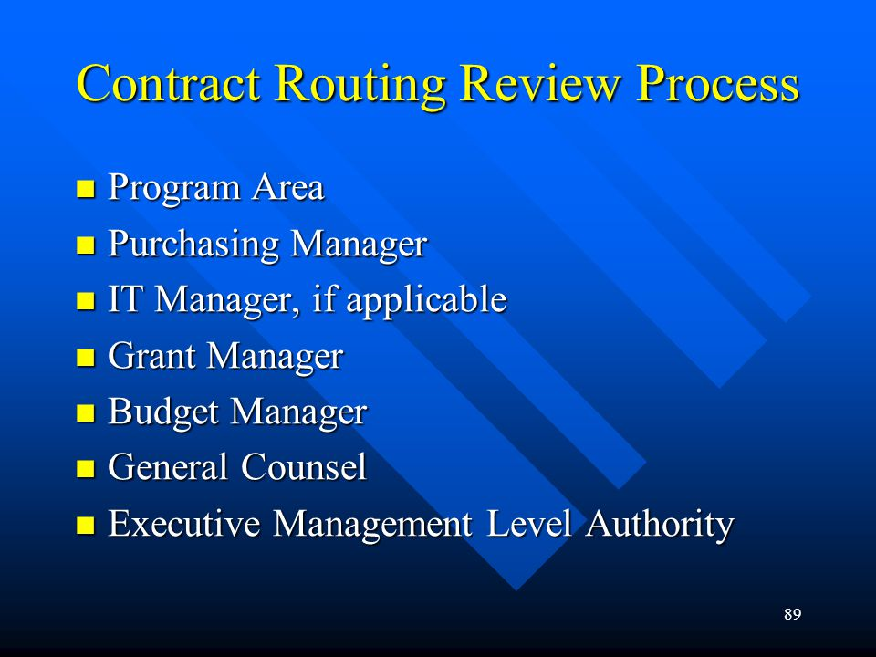 Contract Routing Review Process