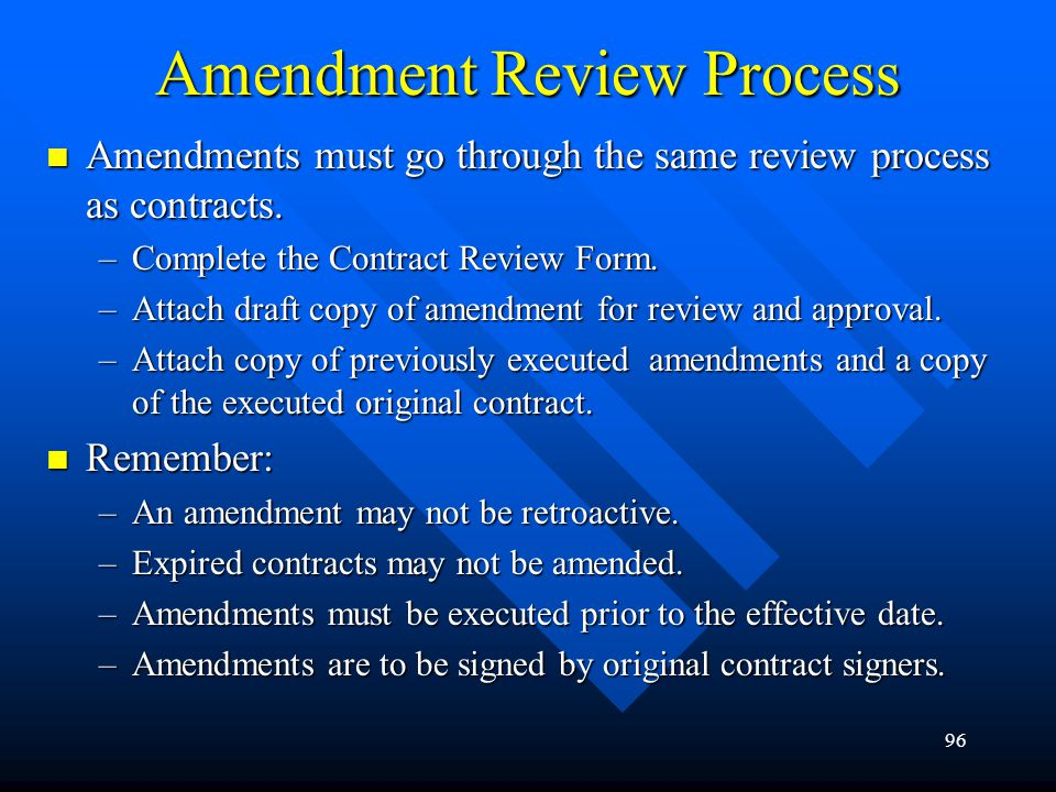 Amendment Review Process