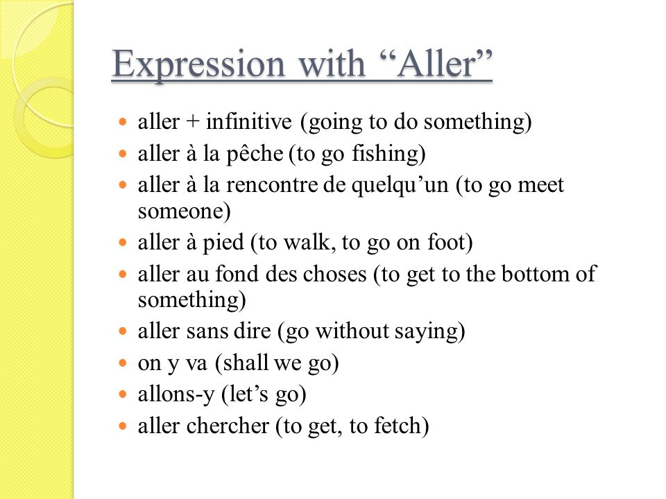 Expression with Aller