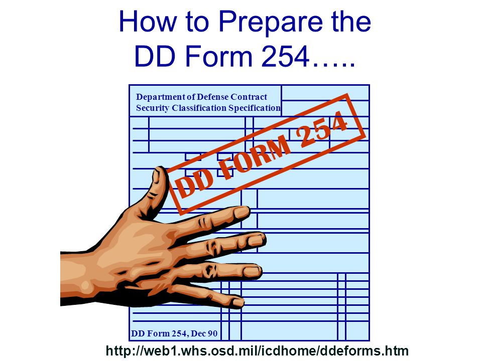 How to Prepare the DD Form 254…..