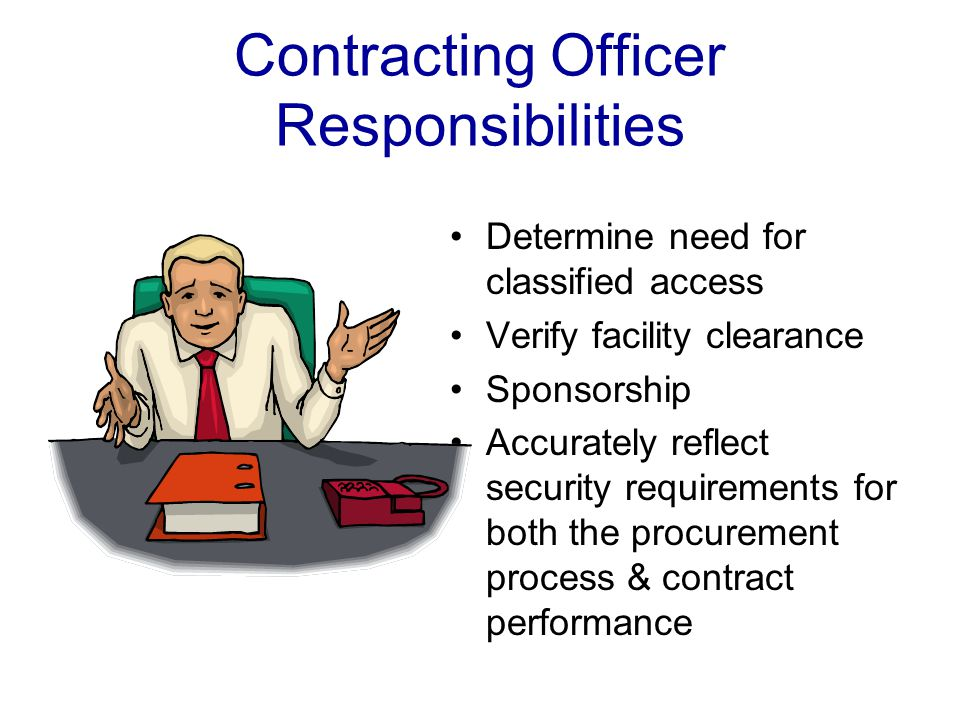 Contracting Officer Responsibilities