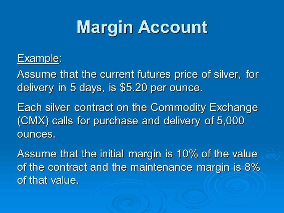 Margin Account Example: