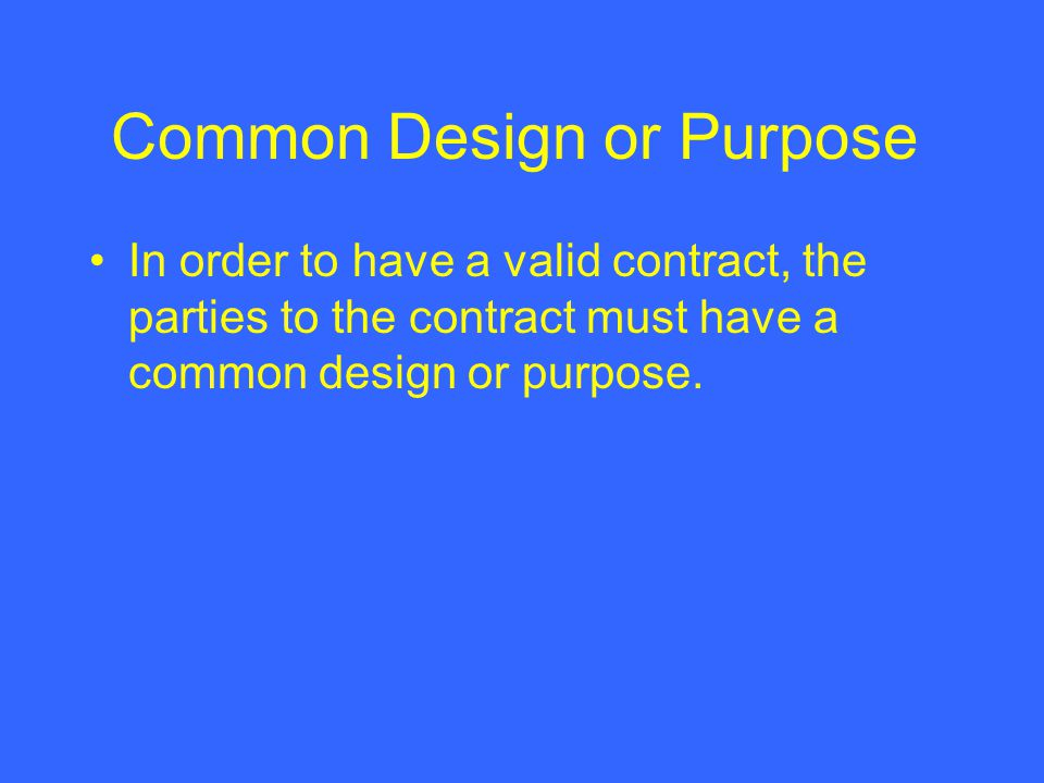Common Design or Purpose