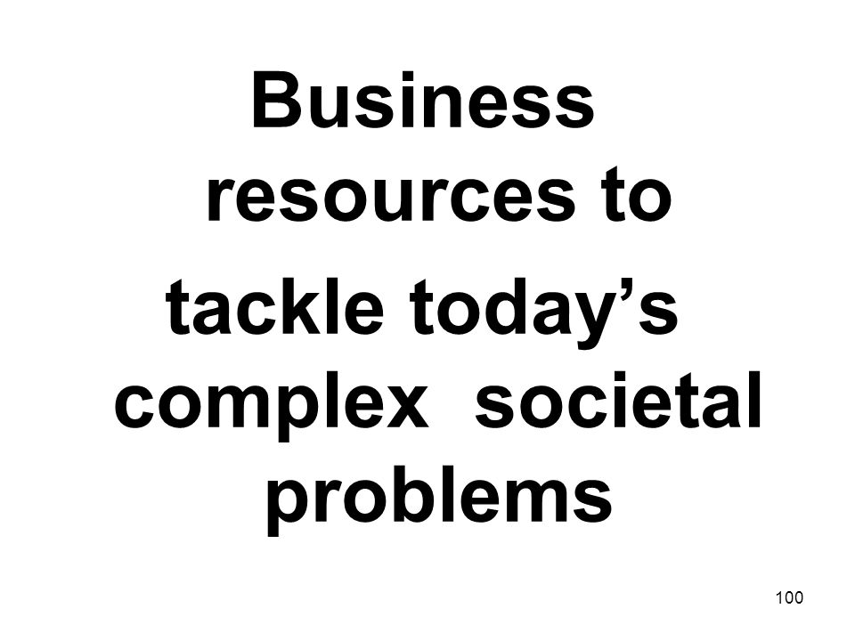 tackle today's complex societal problems