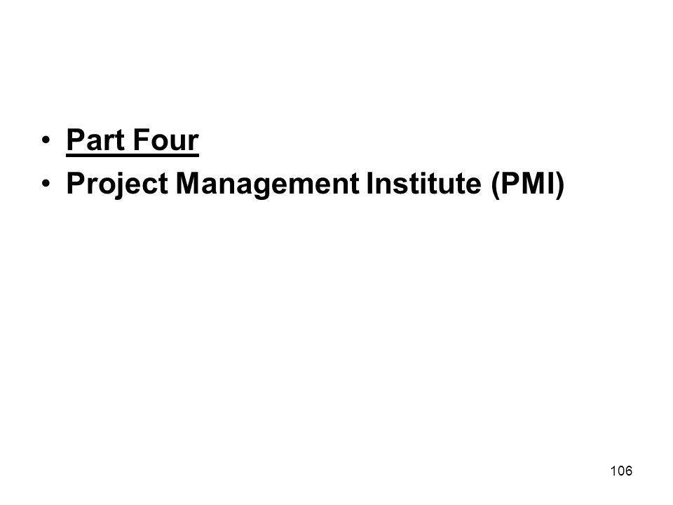 Part Four Project Management Institute (PMI)