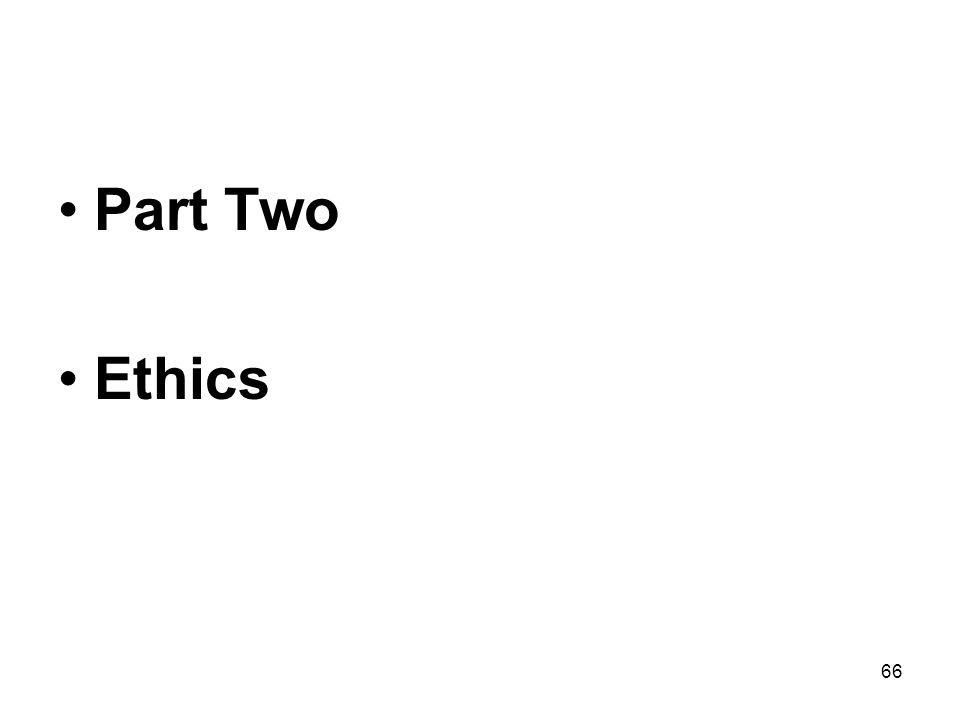 Part Two Ethics