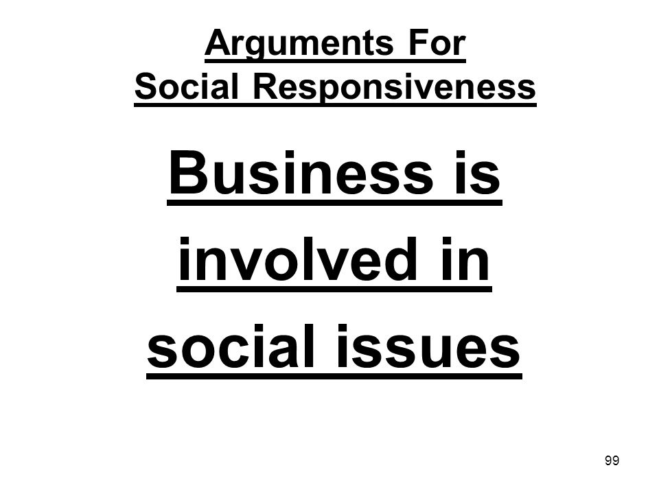 Arguments For Social Responsiveness
