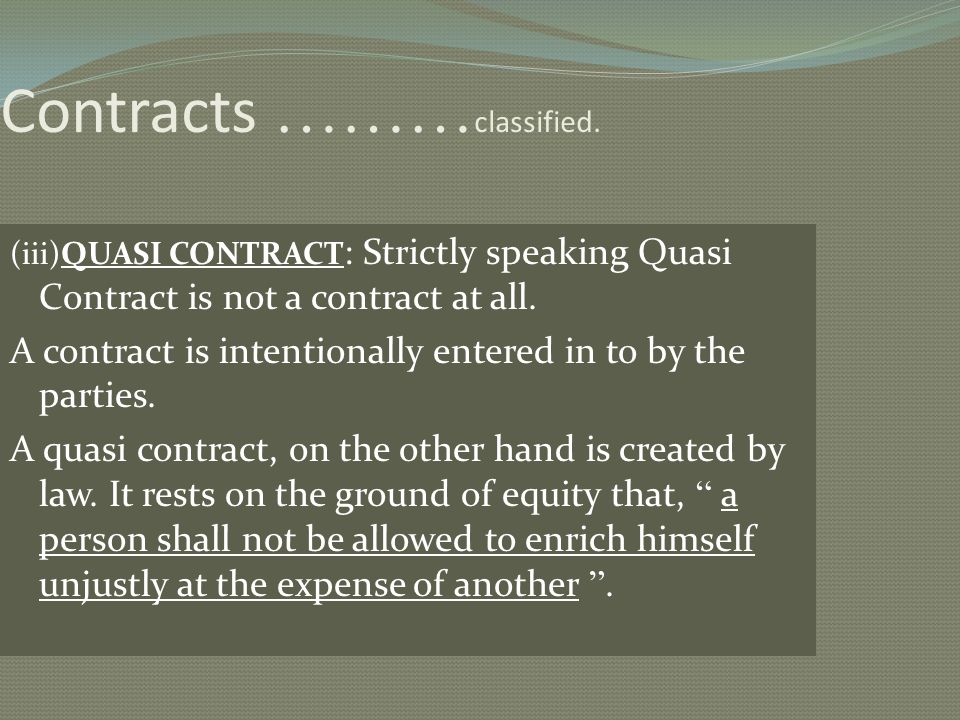 Contracts ………classified.