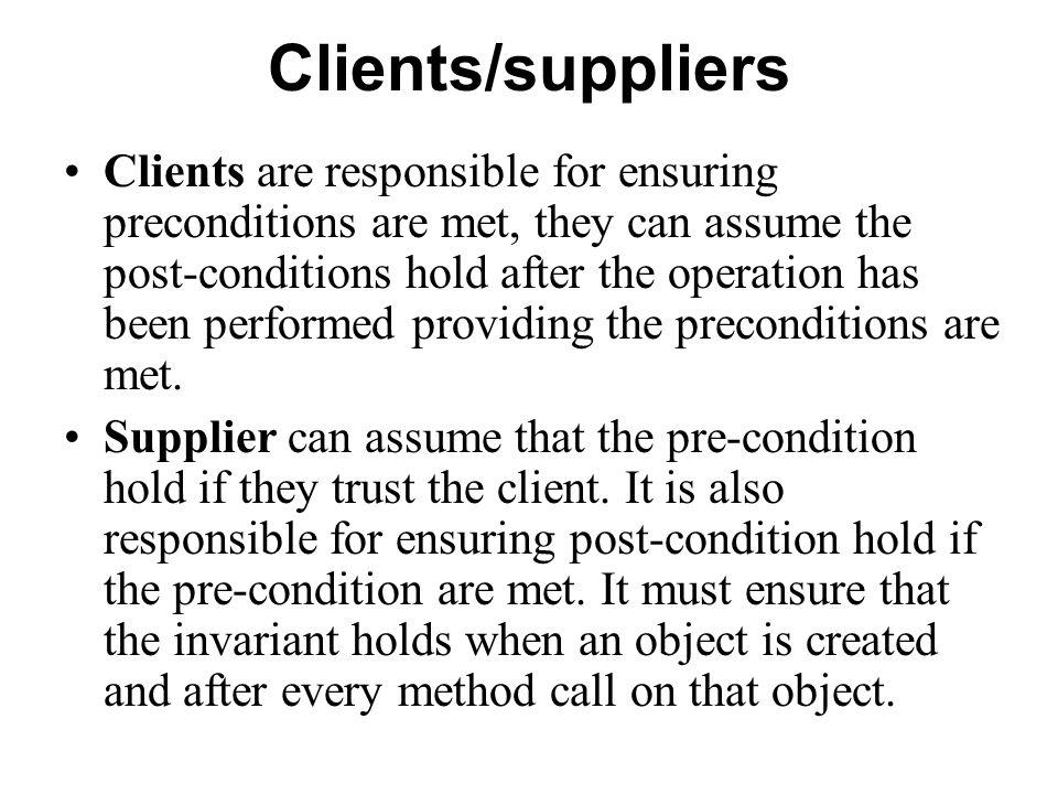 Clients/suppliers