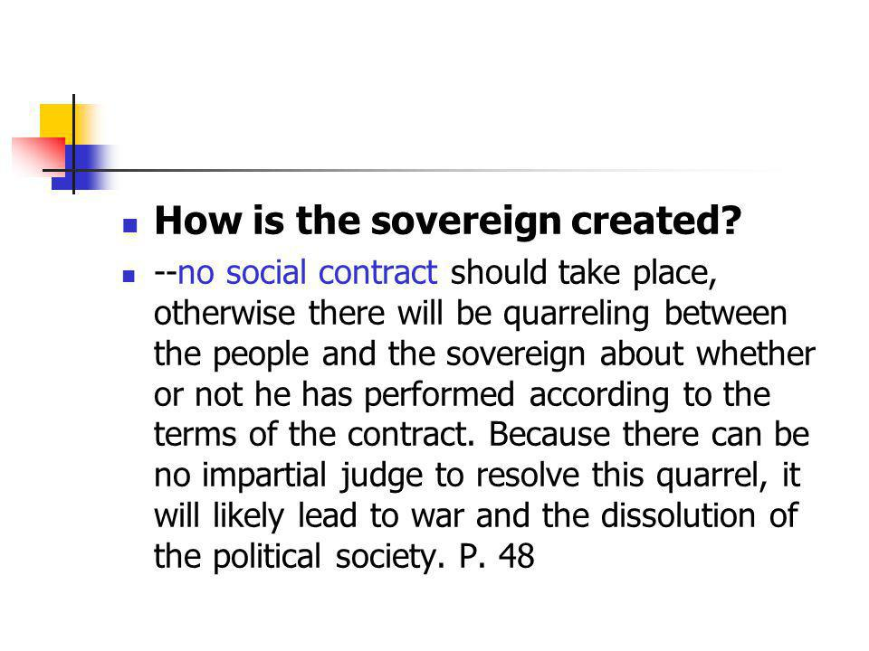 How is the sovereign created