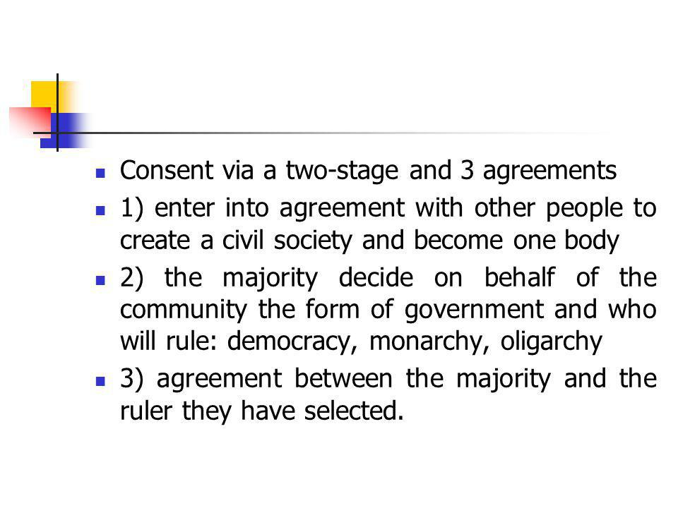 Consent via a two-stage and 3 agreements