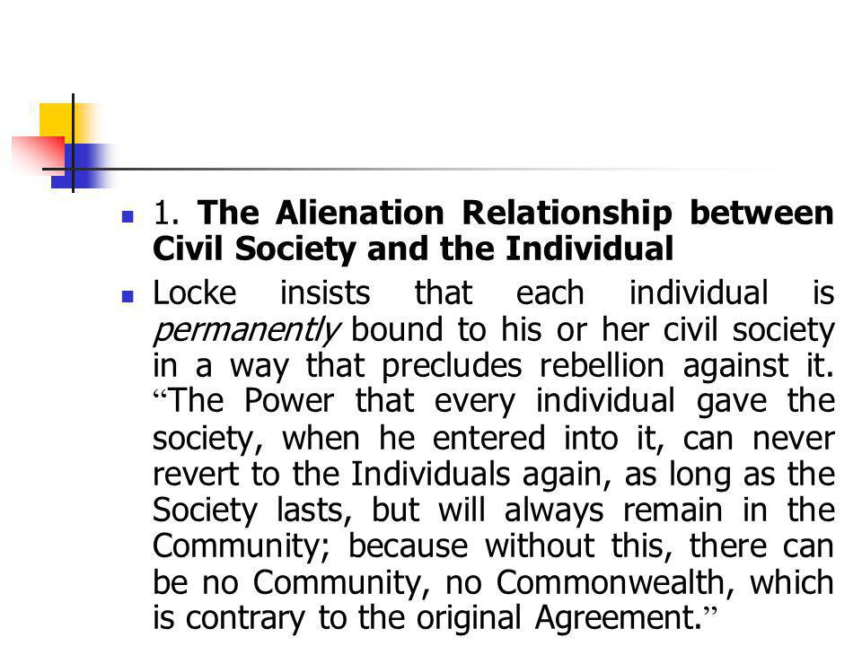 1. The Alienation Relationship between Civil Society and the Individual