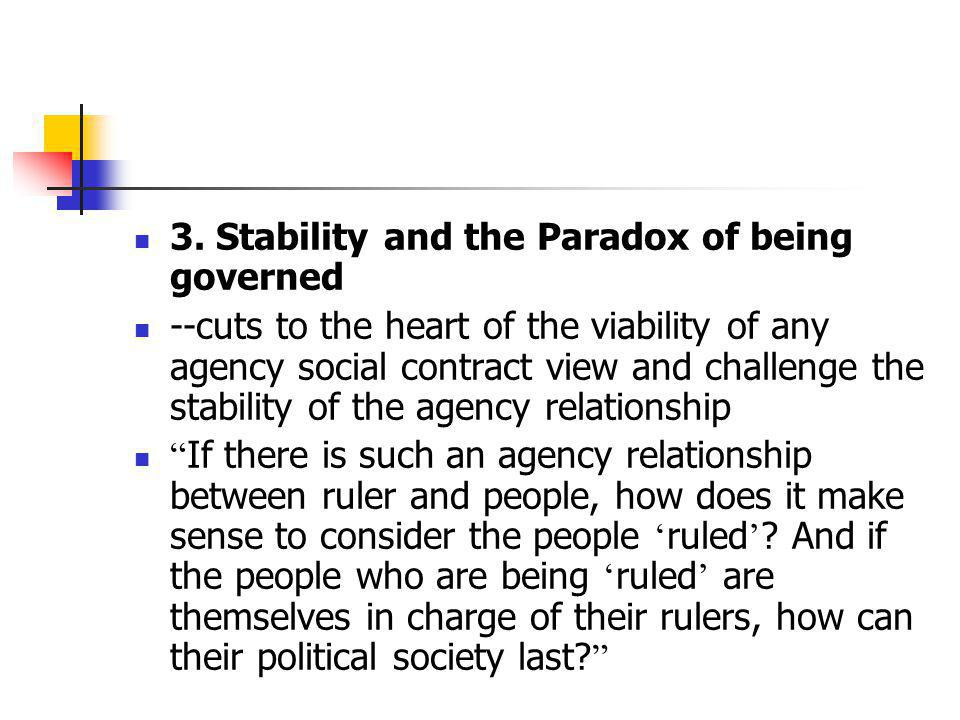 3. Stability and the Paradox of being governed