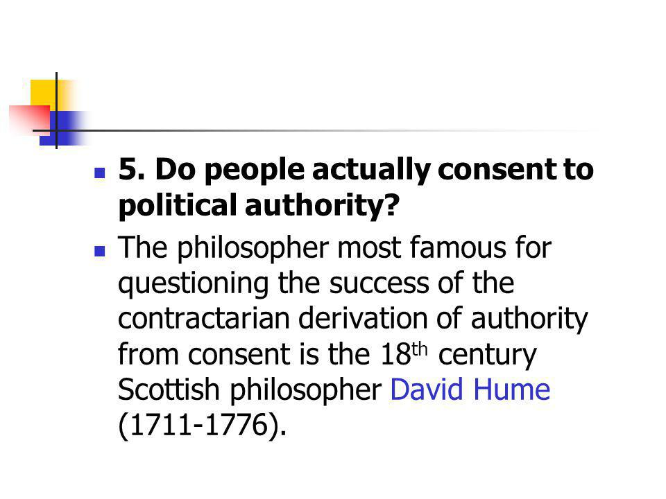 5. Do people actually consent to political authority