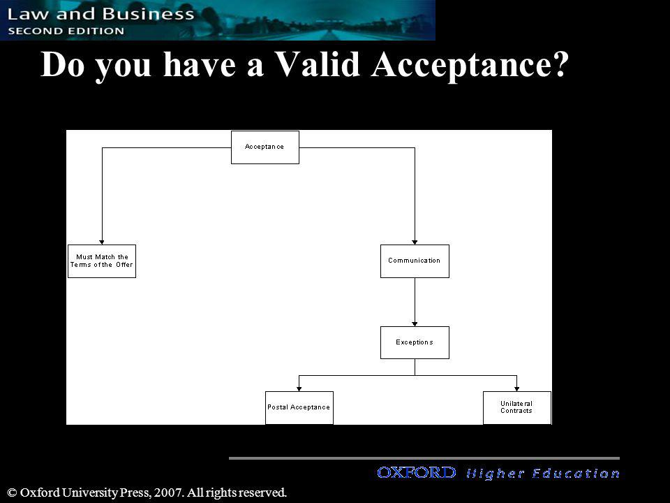 Do you have a Valid Acceptance