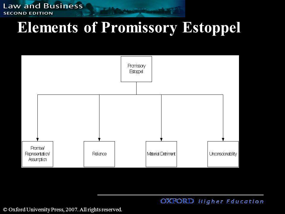 Elements of Promissory Estoppel