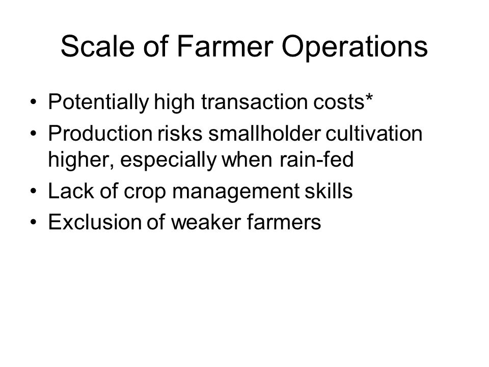 Scale of Farmer Operations