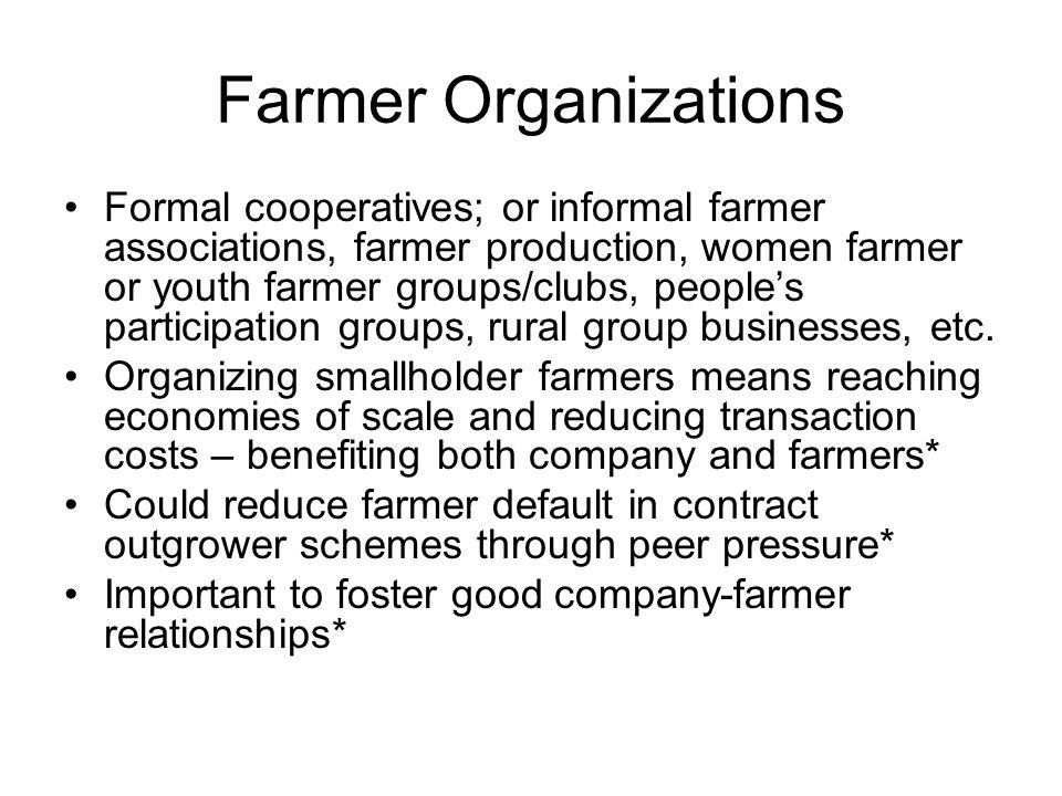 Farmer Organizations