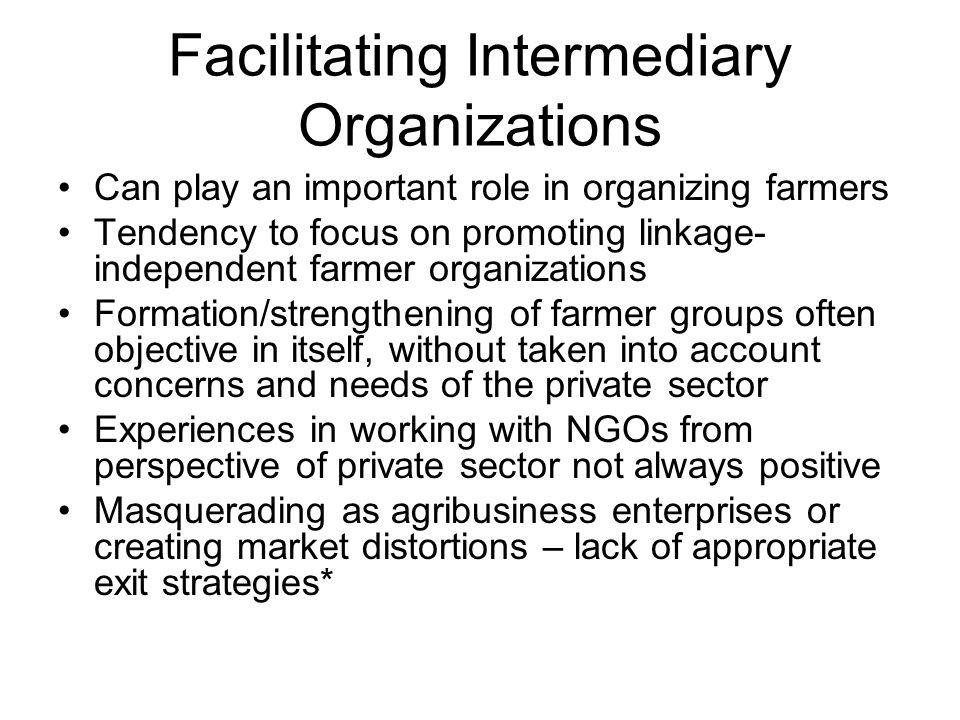 Facilitating Intermediary Organizations