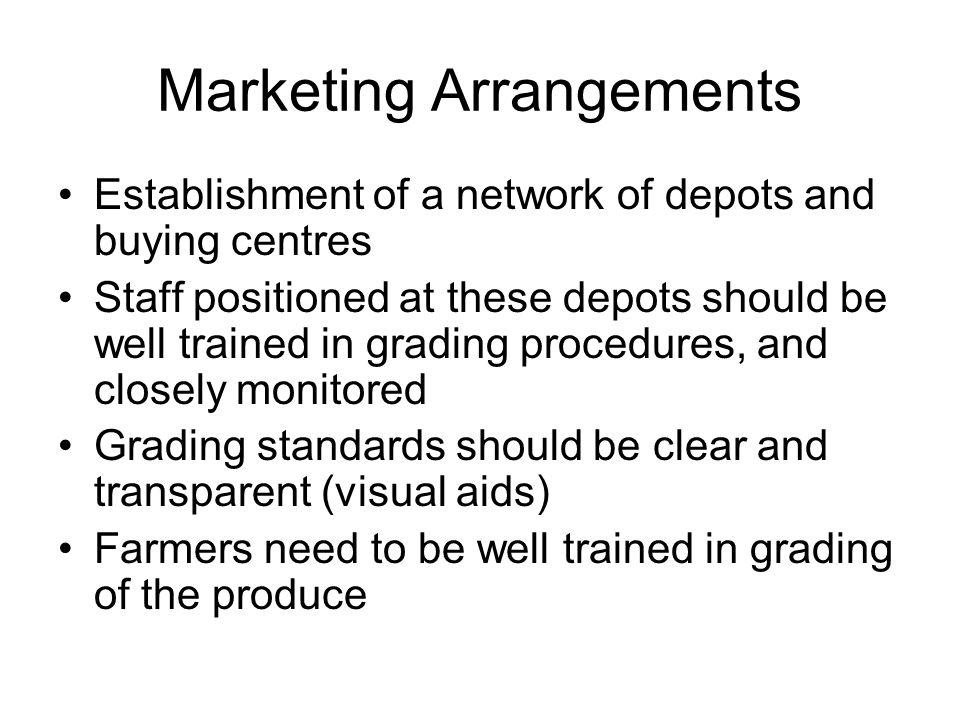 Marketing Arrangements