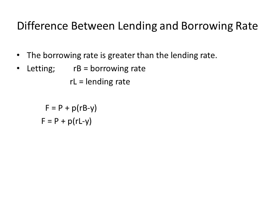 Difference Between Lending and Borrowing Rate