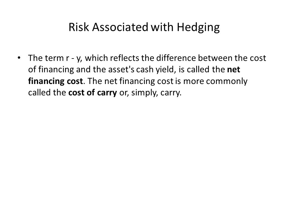 Risk Associated with Hedging