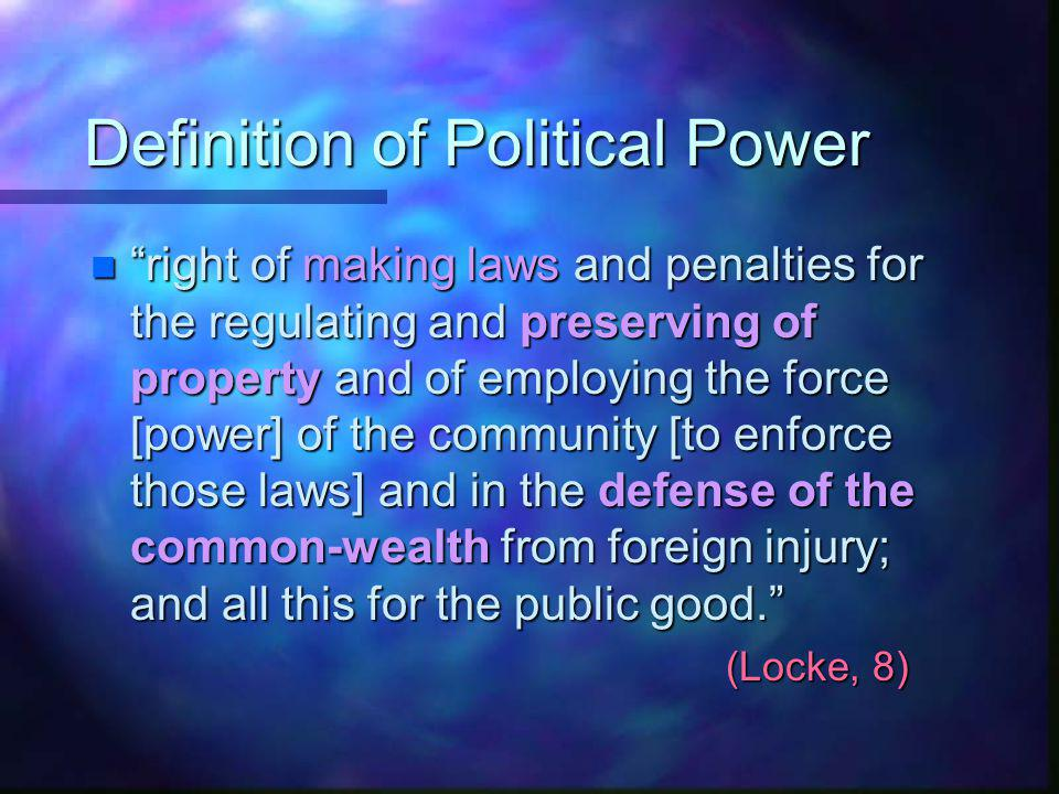 Definition of Political Power
