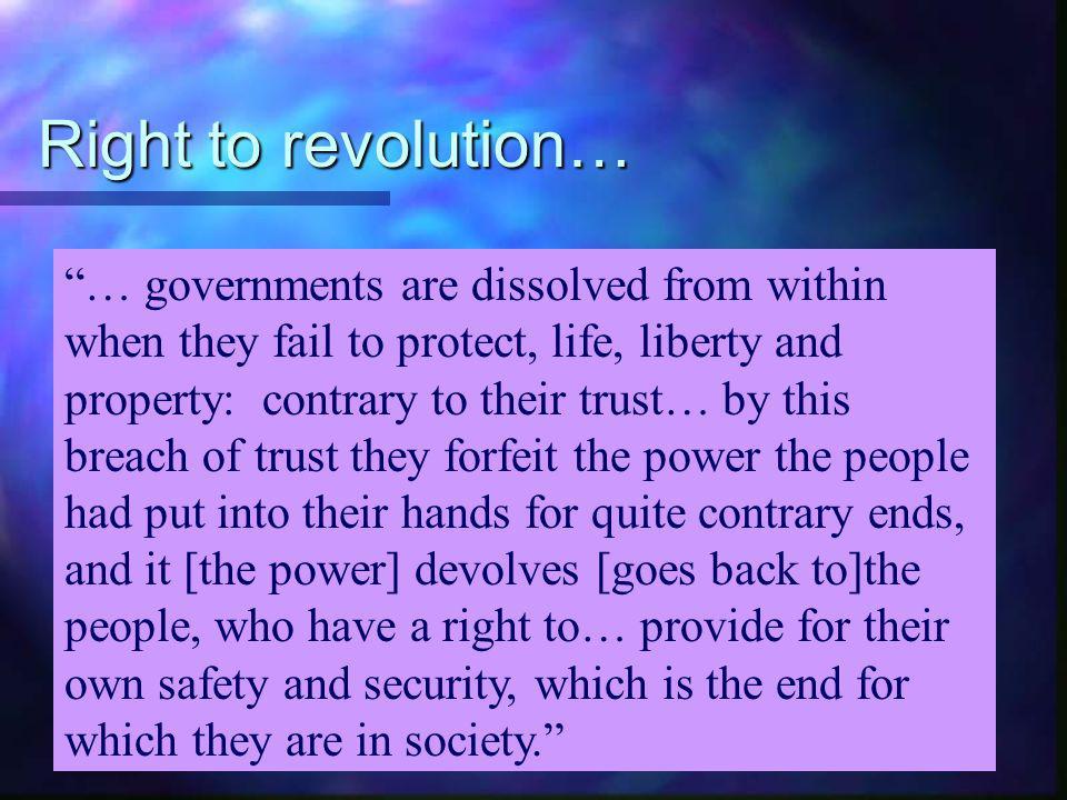 Right to revolution…