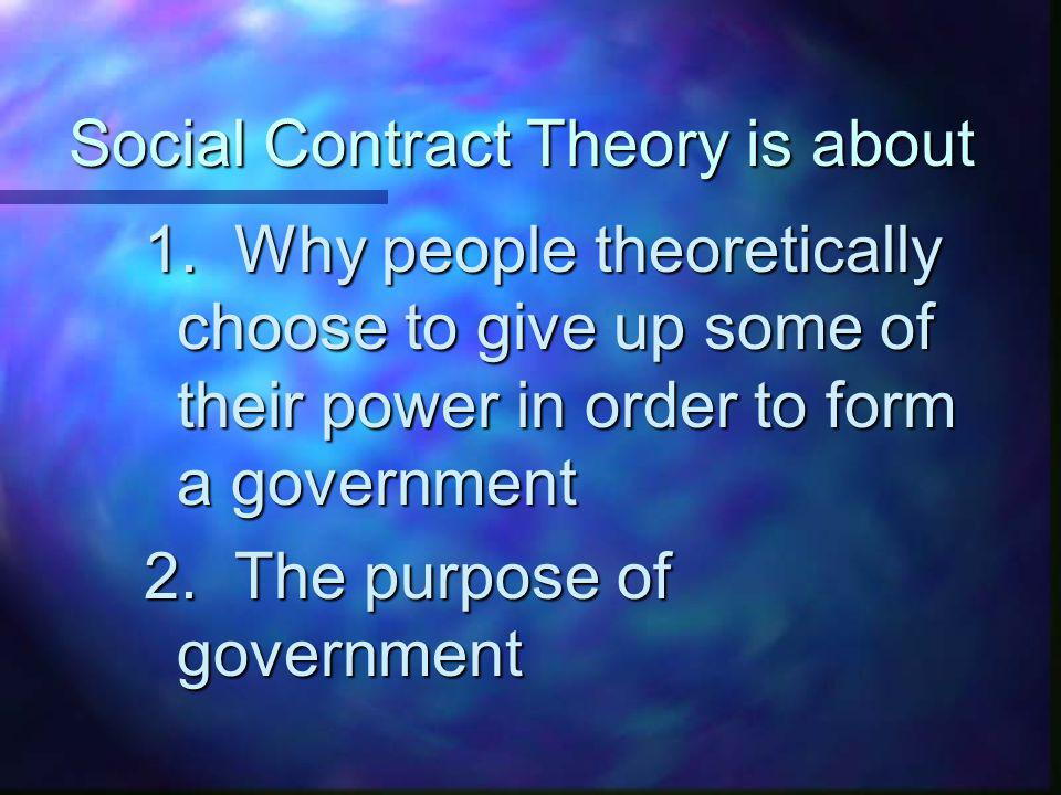Social Contract Theory is about