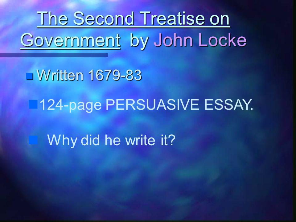 The Second Treatise on Government by John Locke