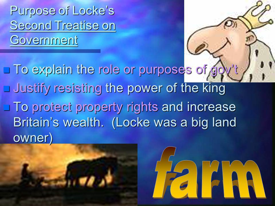 Purpose of Locke's Second Treatise on Government