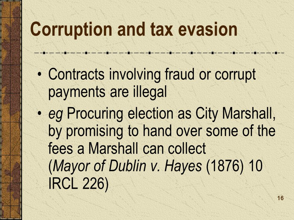Corruption and tax evasion