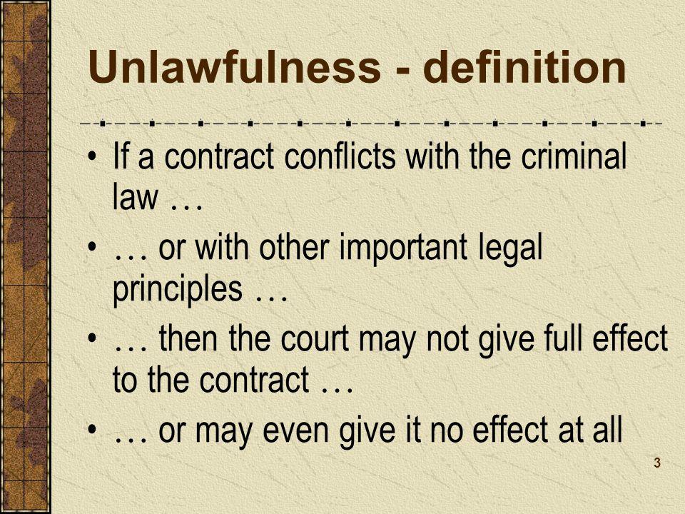 Unlawfulness - definition