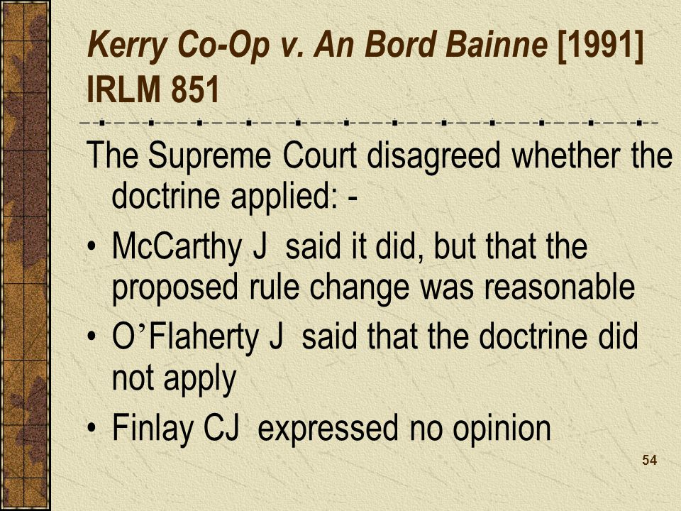 Kerry Co-Op v. An Bord Bainne [1991] IRLM 851
