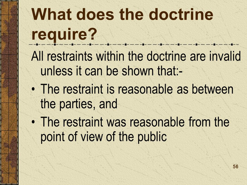 What does the doctrine require
