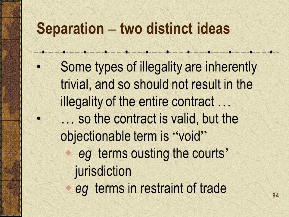Separation – two distinct ideas