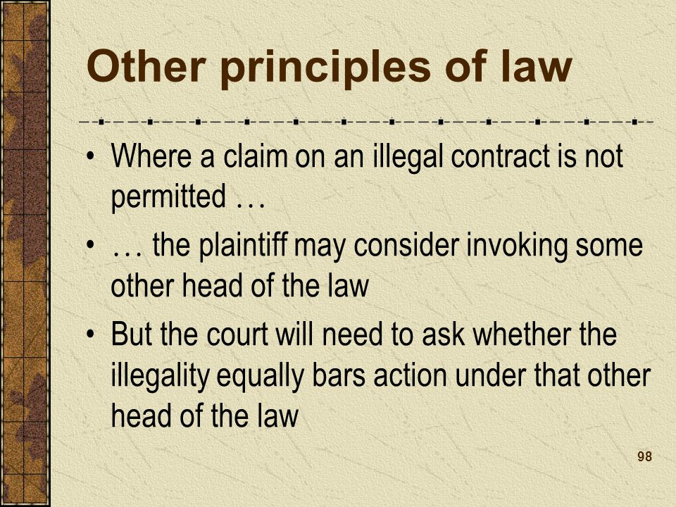 Other principles of law