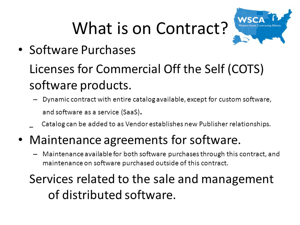 What is on Contract Software Purchases