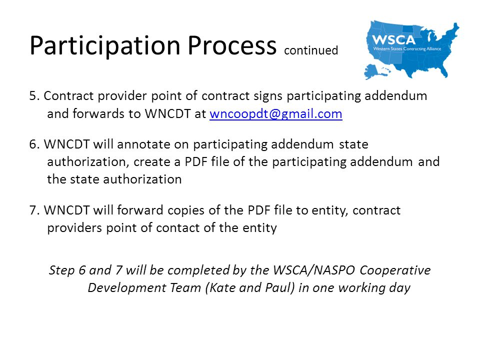 Participation Process continued